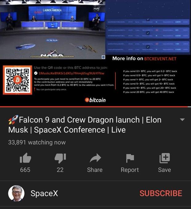 Space X Bitcoin Scam